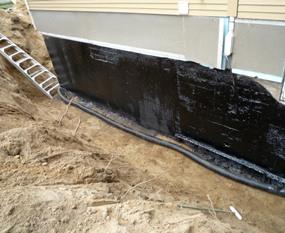 Installation de drain français, excavation générale Jm Poirier Construction