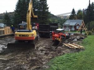 Excavation générale, réparation de fondation , installation septique Jm Poirier Construction